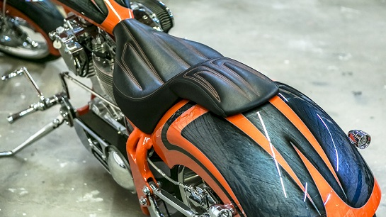 In Stitches Customs, custom motorcycle upholstery Lake Havasu City, AZ